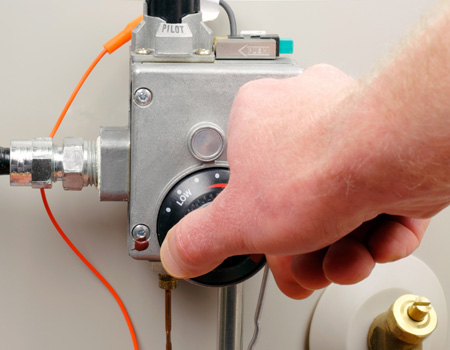 Water Heater Dial